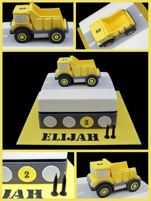 Image detail for -yellow truck 2nd birthday cake for boys inspired by michelle cake ...