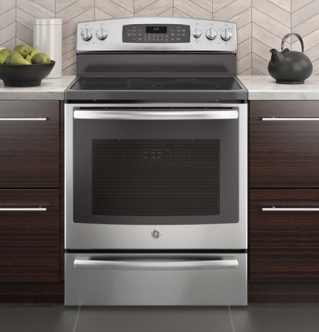 Let us save you time! Our new ranges allow you to control the oven with your phone. The free-standing Profile™ Series gas and electric ranges are GE's second cooking appliances, following the wall oven, to allow consumers to preheat, set the time, and check cooking status using an app on their smartphone.