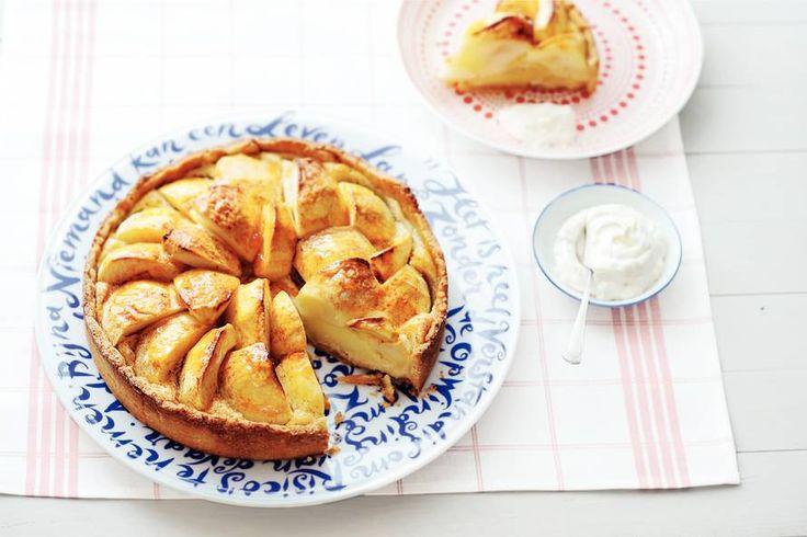 Rijke appeltaart met spijs