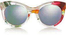 Pin for Later: Die coolsten Accessoires für euren Oktoberfest-Look  Gucci Verspiegelte Sonnenbrille aus bedrucktem Azetat mit Cat-Eye-Rahmen (275 €)
