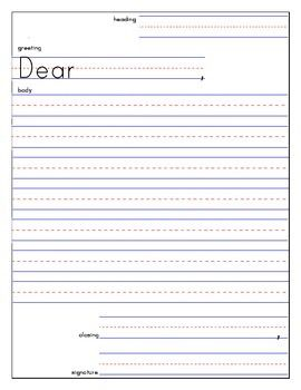 17 best images about friendly letter on pinterest post for Letter writing template for first grade