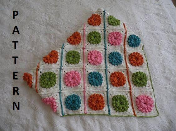 Crochet Blanket Pattern Crochet Baby Blanket Flowers Blanket