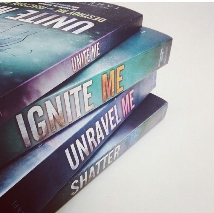 Shatter Me series by Tahereh Mafi