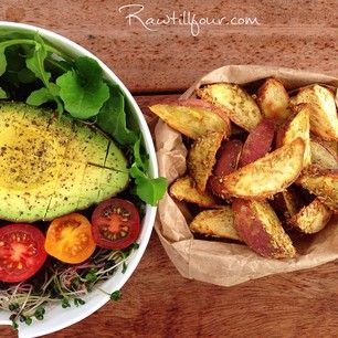 18 best raw till 4 plans images on pinterest vegan food vegan raw till 4 raw till four wedges fries oil free salt free vegan salad 801010 these recipes look amazing forumfinder Images