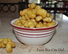Microwave Caramel Puff Corn -Made this with my girls today. Warning:addicting as crack! Yum.