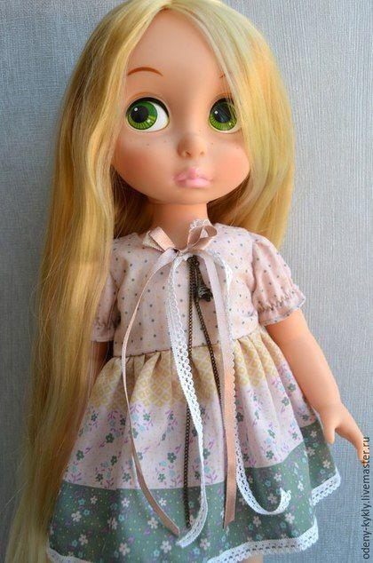 Как сшить голубое платье для куклы
