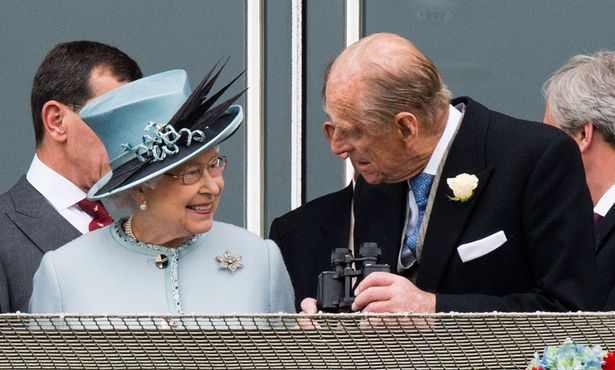 Queen Elizabeth II and Prince Philip the Investec Epsom Derby