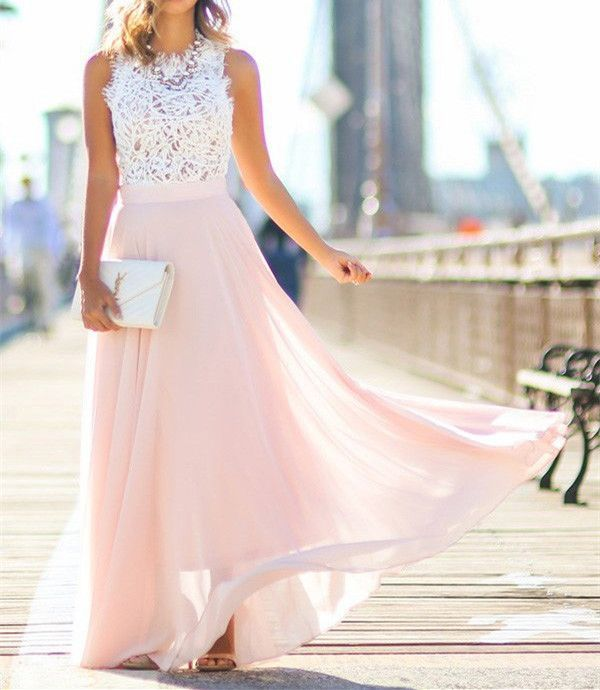 lovely long chiffon and lace party dresses long party dresses