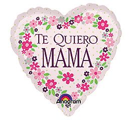 "Spanish ""Te Quiero MAMA"" Foil Balloon"