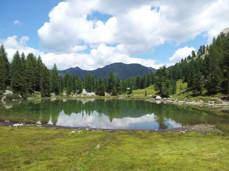 Alpine lake in valle San Niccolò (val di Fassa)