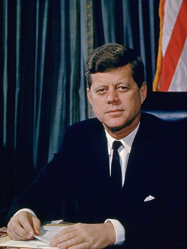 John F. Kennedy The 35th President of the United States. JFK presided over the Cuban Missile Crisis and established NASA to put America on the moon. His assassination was controversial and untimely. Date: 1961.