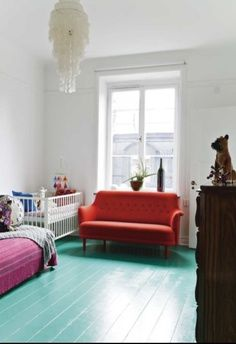 that floor colour is ace and so great with the pink and orange