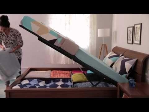 Zambezi Hydraulic Storage Bed - Urban Ladder