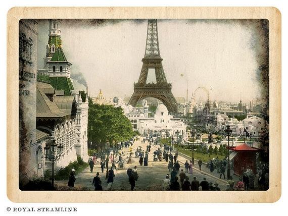 Vintage postcard of Paris.