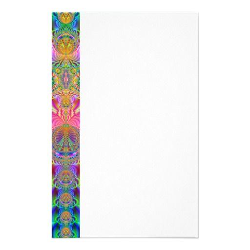 Colorful fractal custom stationery