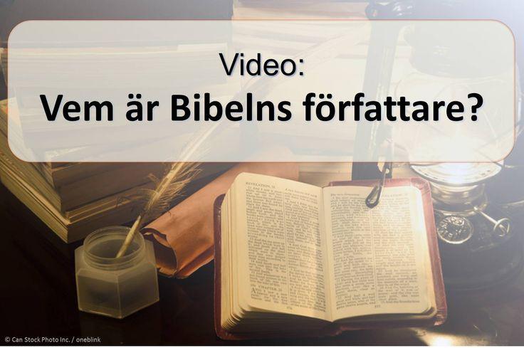 """Vissa fyrtio olika män skrev texten till Bibeln, men det kallas """"Guds ord."""" (1 Thessalonikerna 2:13) Hur kan Gud ge sina tankar till människor? Titta på denna video att ta reda på.  https://www.jw.org/sv/publikationer/b%C3%B6cker/goda-nyheter-fr%C3%A5n-bibeln/goda-nyheterna-fr%C3%A5n-gud/film-vem-%C3%A4r-bibelns-f%C3%B6rfattare/ (Some forty different men wrote the Bible, but it is called """"the word of God."""" How can God give his thoughts to humans? Watch this video to find out.)"""