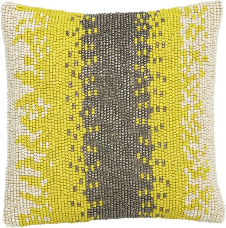 Beaded Pillow Crate And Barrel Home Pillow Sale Bed