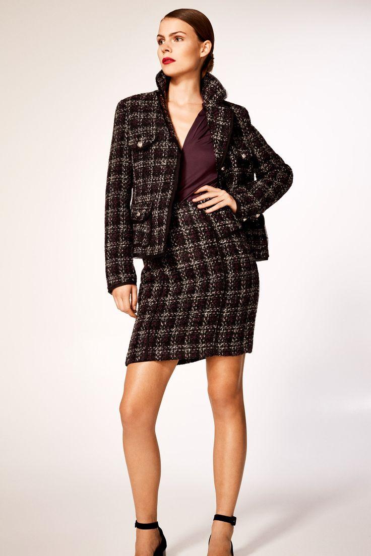 Cortefiel - Falda tweed