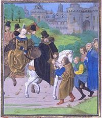 For the Sake of a Crown – the Marriage of John of Gaunt and Constance (Constanza) of Castile 1354-1394. Their son John 1374-1375. IMAGE: The surrender of Santiago de Compostela to John of Gaunt; Constance of Castile is the lady on horseback