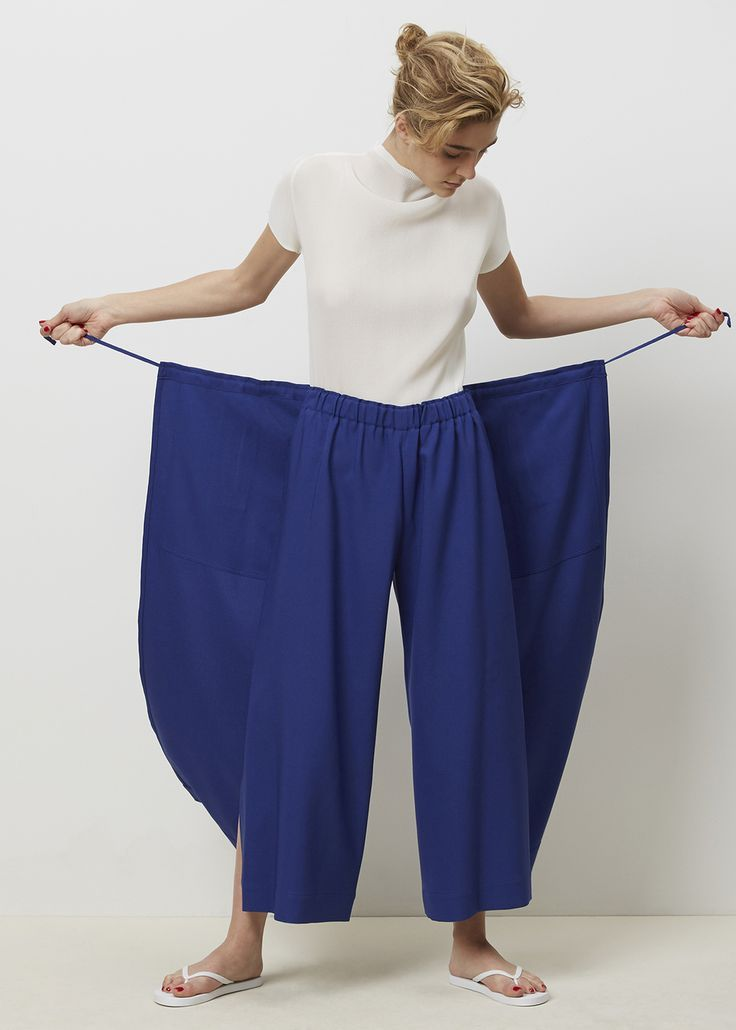 Sewing inspo: Issey Miyake Split Tie Front Pant
