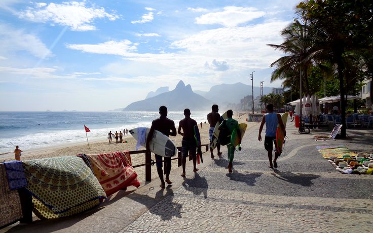 Praia de Ipanema, perto do Forte de Copacabana