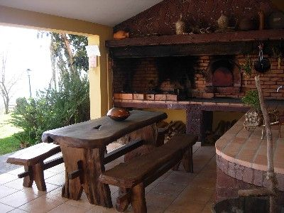 Covered BBQ area | Primitive Outdoor Kitchen Ideas ...