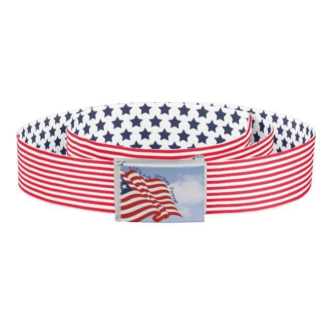 Stars And Stripes Forever Red White Blue Flag Belt Zazzle Com Forever Red Red White Blue Red White
