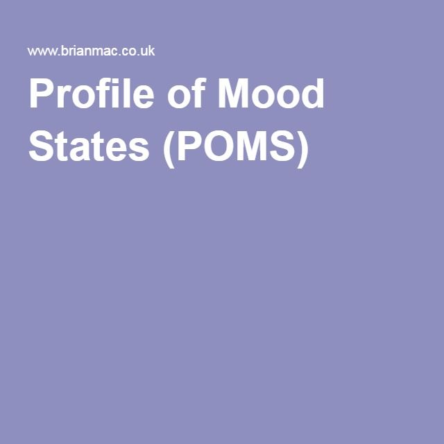 Profile of Mood States (POMS)