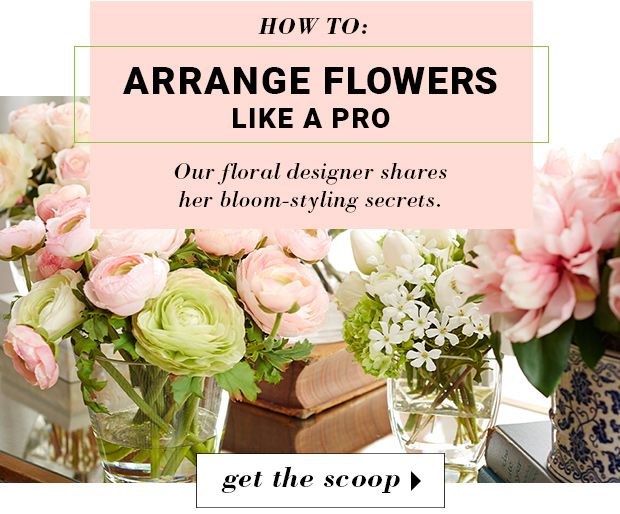 Anyone can fill a vase with flowers, but crafting an arrangement with intentional combinations and placement? That's where we turn to our floral stylist. Tap her insider knowledge at jossandmain.com.
