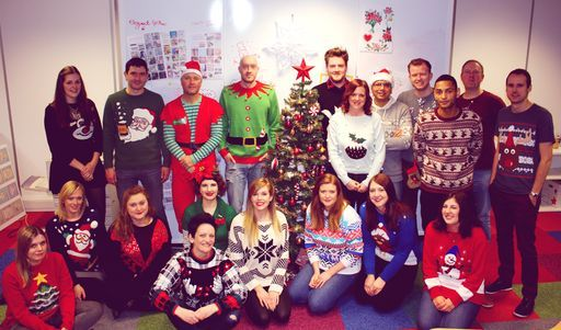 The Creative Team on Christmas Jumper day! We raised over £100 for Save the Children