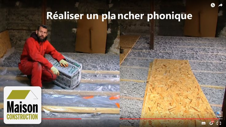 Isolation phonique plancher neuf ou rénovation