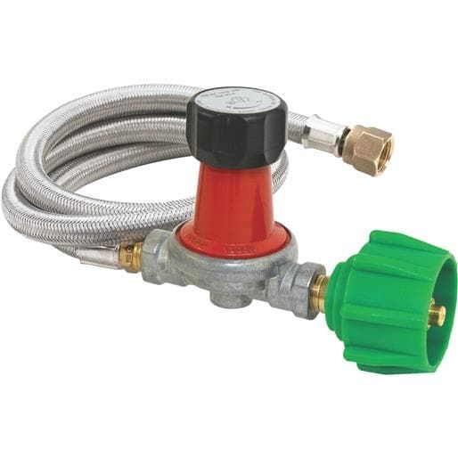 Barbour International 4' 30Psi Stnls Lpg Hose M5HPR-30 Unit: Each, Silver stainless steel