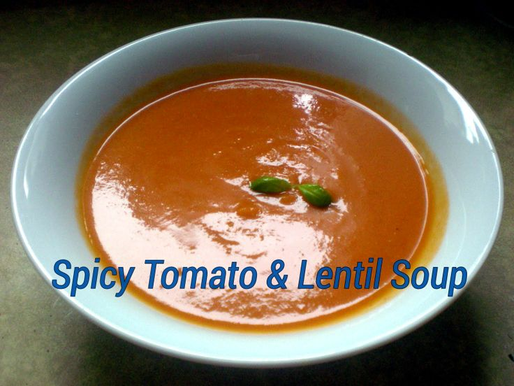Spicy Tomato and Lentil Soup. Sometimes a simple dish is all you need in the evening. @MrsUMakes