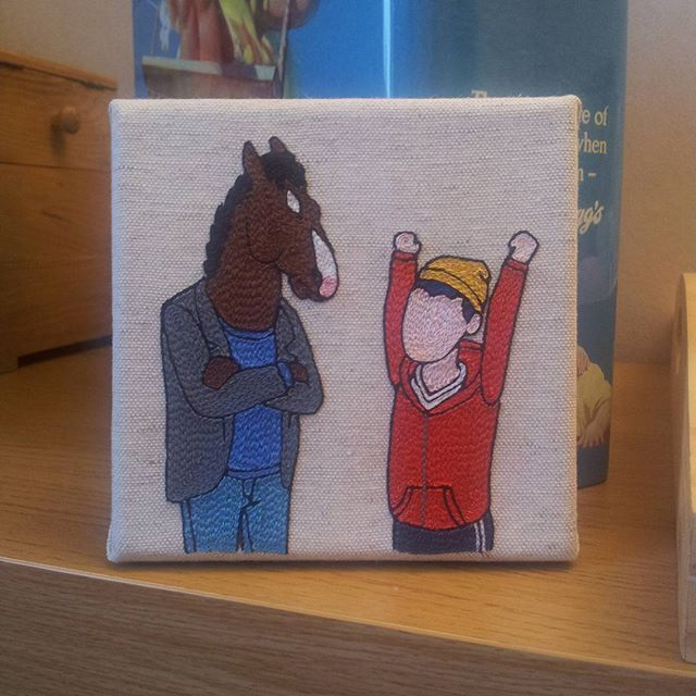 HOORAY !! A new Bojack embroidery ! (Available on the shop - link in the profile)