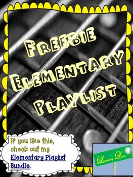 This is a glimpse of my Elementary Classroom Playlist Bundle, which contains several songs that are Elementary appropriate.  Take a look and then head to my Classroom Playlists for over 80 songs.Elementary Classroom Playlist