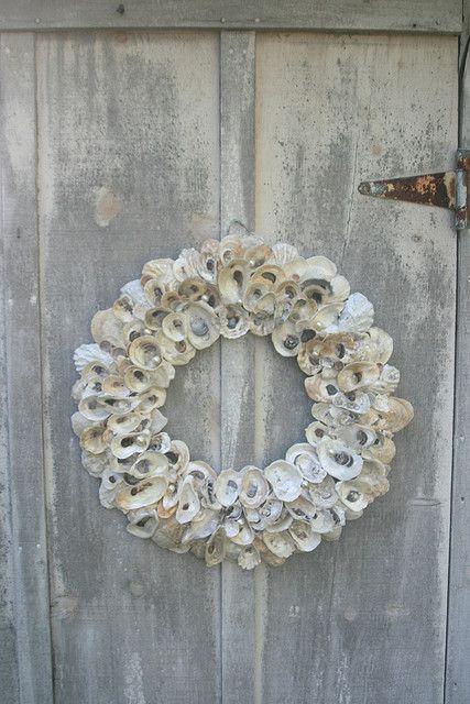 """oyster & pearl """"wedding wreath"""""""
