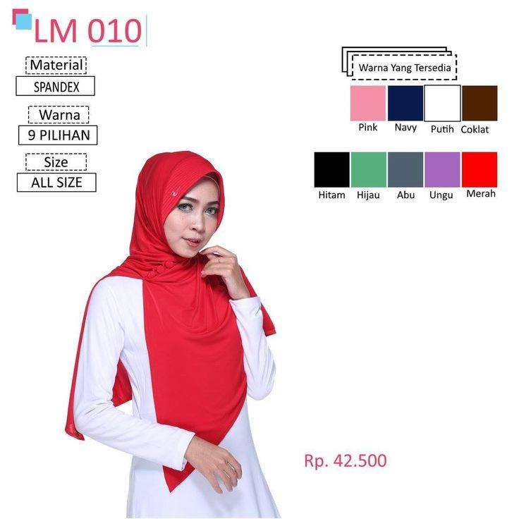 LM 010 Lamia Hijab - Kerudung Bergo Syar'i bahan kualitas premium, nyaman dipakai dan anti gerah. Material : Spandex. Size : All Size. #lamiahijab #hijabindonesia #kerudunginstan #bergo