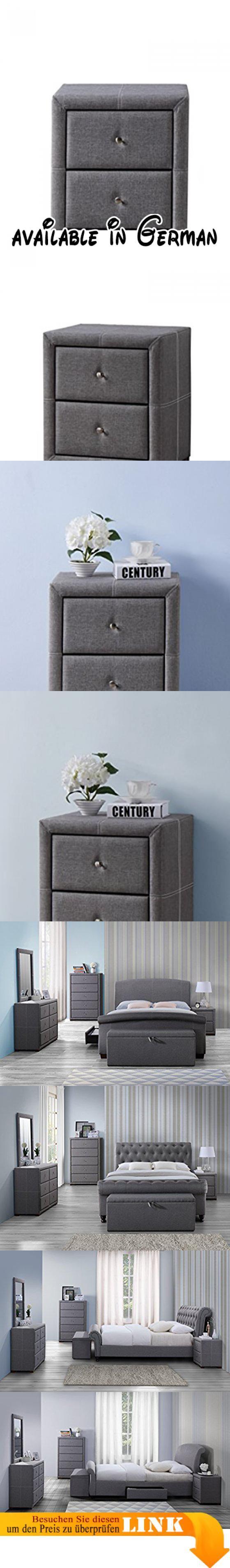 Elegant Best Bdvii Birlea Sorrento Nachttisch Mit Grau Stoff Moderne Und  Stilvolle Mbel Serie Dieser Bereich Verfgt With Graue Nachttische