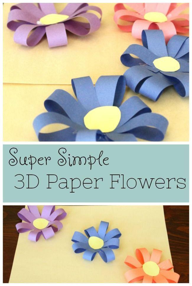 Simple 3d Paper Flowers Preschool Power Spring Crafts Paper