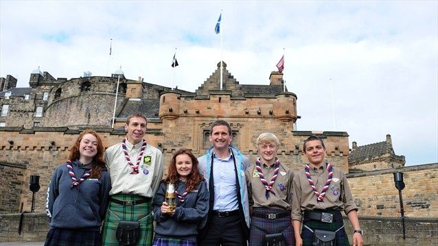 The scouts who lit the Scottish National Flame