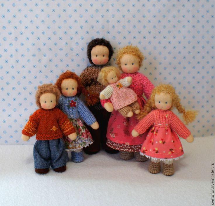 Купить Семья - разноцветный, вальдорфская кукла, вальдорфская игрушка, игровая кукла, детская кукла