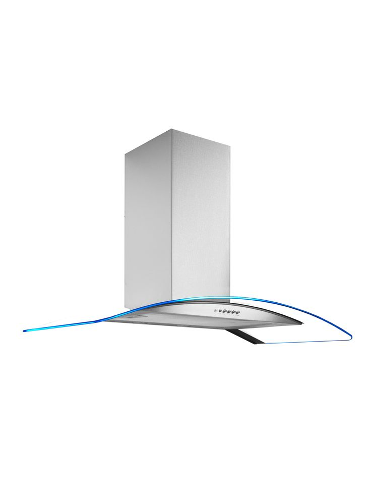 ART28316 90CM HOOD LED CURVED GLASS ANGLED VIEW £119