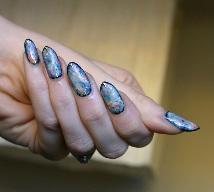 Opals. I did these using a tutorial by Kelly of basecoat-topcoat, who is one of my all-time favorite nail artists. She has an ongoing series of stone-inspired nails that are so beautiful, unusual, and...