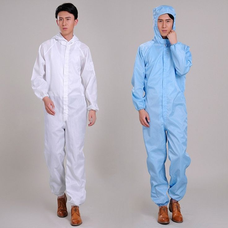 New Work Coveralls Unisex Protective Workwear Dustproof Working Hooded Uniforms
