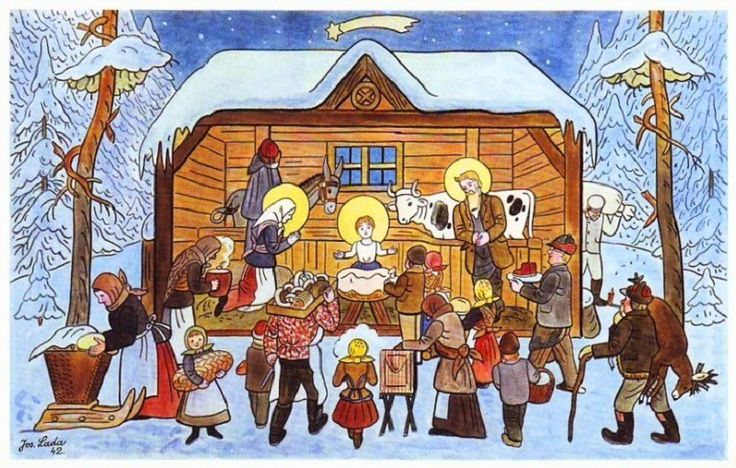 We were browsing online for vintage and old Czech Christmas cards and postcards from then called Czechoslovakia (now the Czech Republic) and we found so many that we decided to share the best ones here with you.