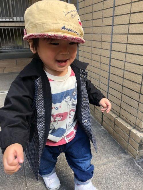 4731adbec3d681 SO&KEI|ANPANMAN KIDS COLLECTIONのキャップを使ったコーディネート in 2019 | My WEAR | ペイズリー  柄, 帽子, ロンt