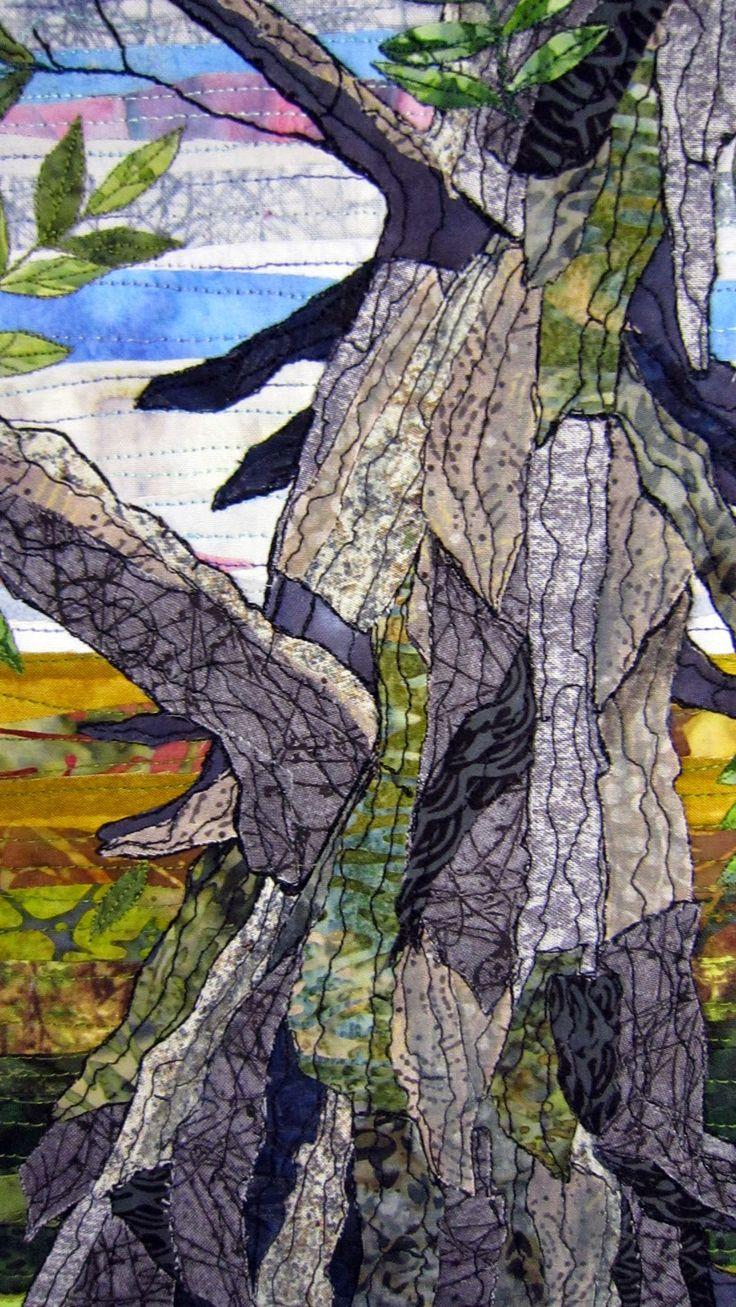 Barbara Strobel Lardon Art quilts: THE HICKORY TREE