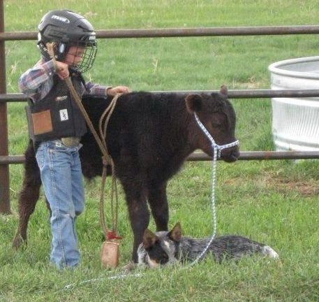 Everybody starts somewhere! Adorable!!.... that is a true cowboy !!(: