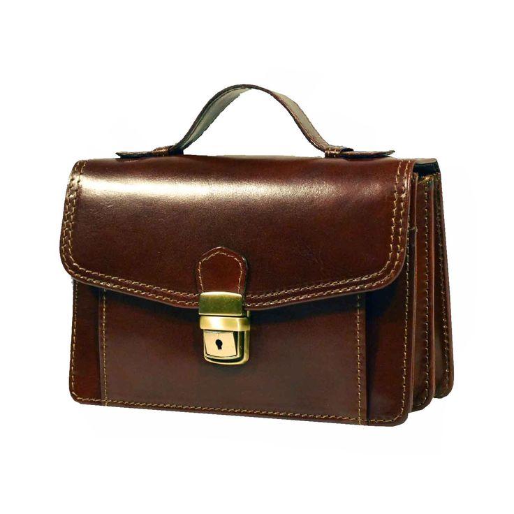 Luxusná kožená etuja č.7847, viacúčelové púzdro v hnedej farbe (2)