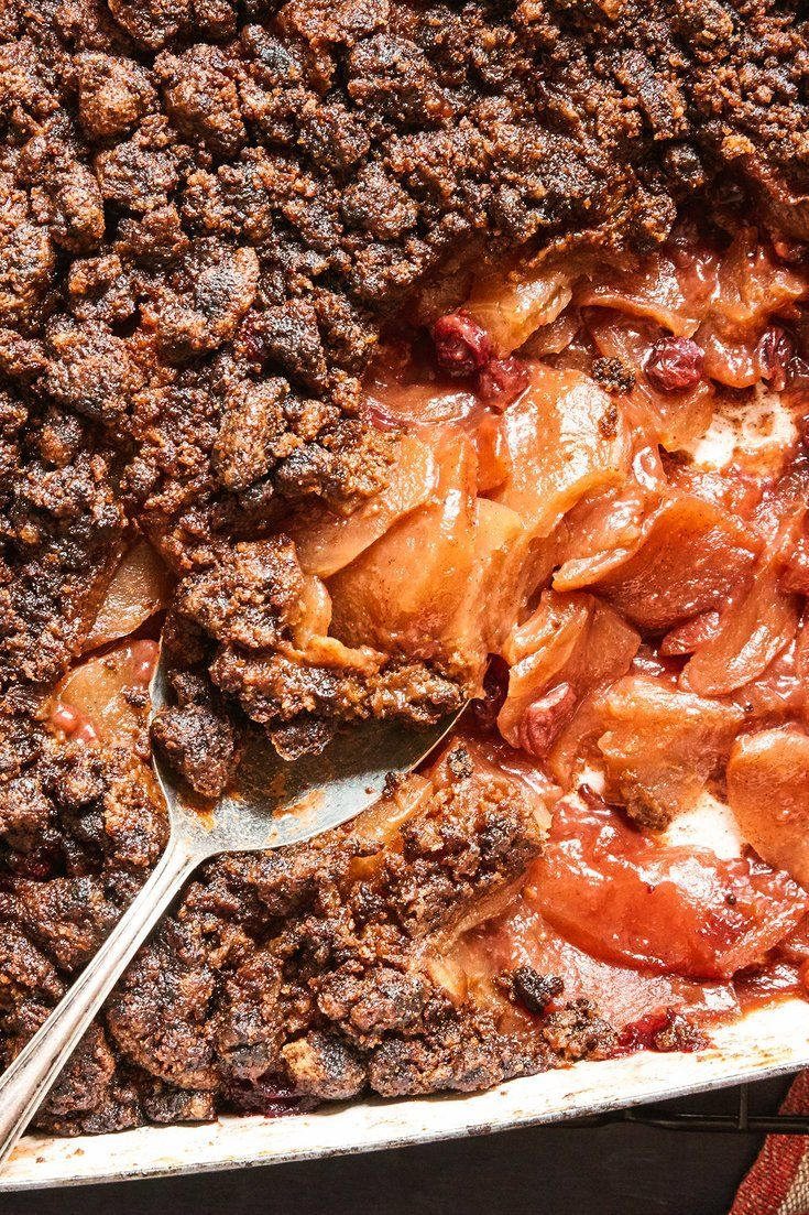 NYT Cooking: Easier and homier than an apple pie, this gently spiced crumble feeds a crowd. If you don't want to make the bourbon cream, serve this with ice cream instead: Vanilla is classic, but ginger, green tea or salted caramel would also be terrific.